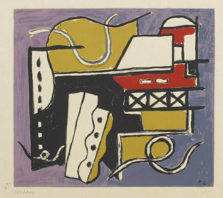 After Fernand Leger - Plate 4 from Album of 10 Serigraphs-1955