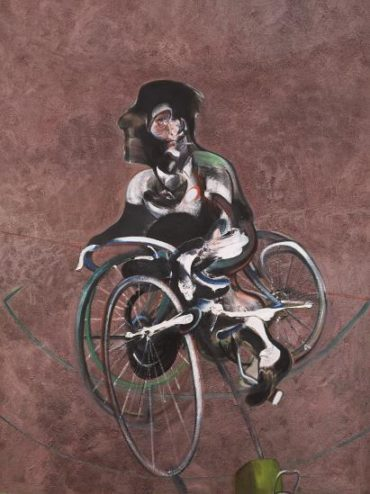 After Francis Bacon - Portrait of George Dyer Riding a Bicycle