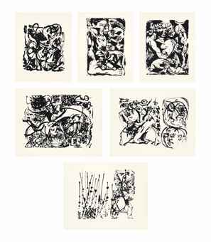 Jackson Pollock-After Jackson Pollock - Untitled Portfolio-1951