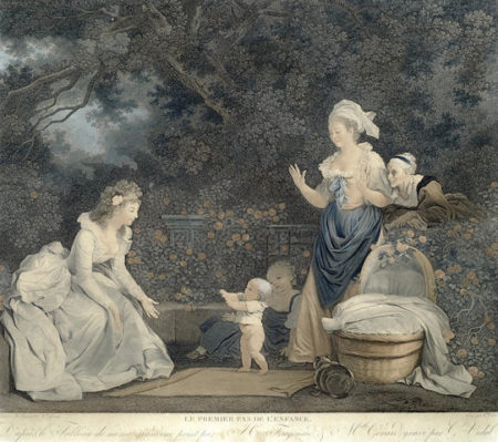 Jean-Honore Fragonard-After Jean-Honore Fragonard - Le Premier Pas De L'Enfance-