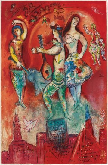 Marc Chagall-After Marc Chagall - Carmen (M. Cs 39) by Charles Sorlier-1966