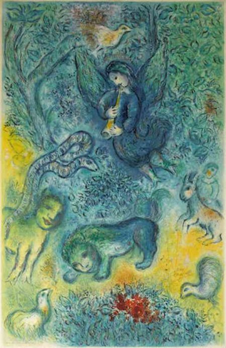 Marc Chagall-After Marc Chagall, by Charles Sorlier - The Magic Flute-1967
