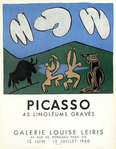 Pablo Picasso-After Pablo Picasso - 45 Linoleums Graves-1960
