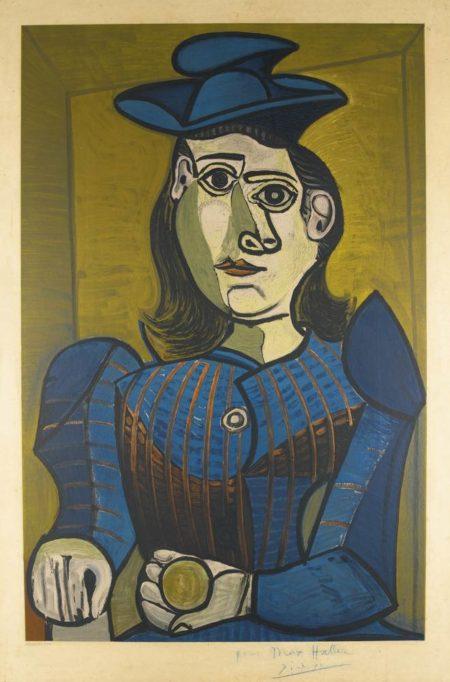 Pablo Picasso-After Pablo Picasso - Femme Assise (Dora Maar)-1955
