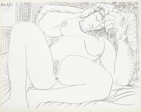 Pablo Picasso-After Pablo Picasso - Femme Nue I and VI-1957