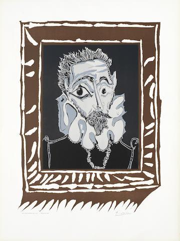 Pablo Picasso-After Pablo Picasso - L'Homme a la Fraise-1973