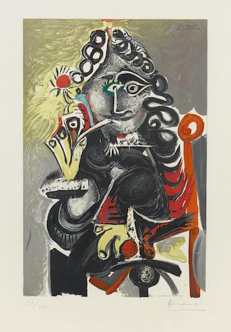 Pablo Picasso-After Pablo Picasso - Le Cavalier-1968