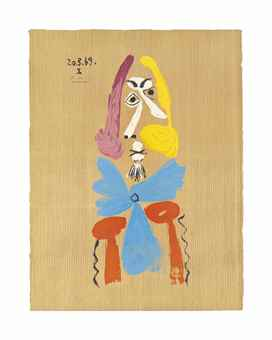 After Pablo Picasso - One plate, from: Imaginary Portraits-1969