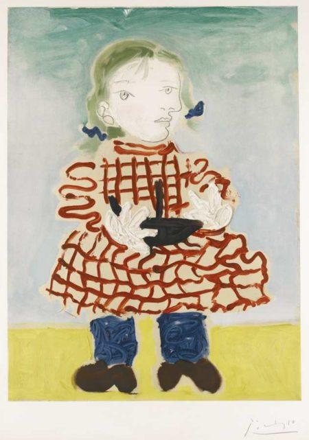 Pablo Picasso-After Pablo Picasso - Portrait De Maya Au Bateau-1965