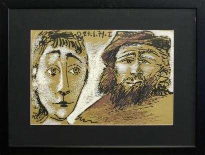 Pablo Picasso-After Pablo Picasso - Visages-1971