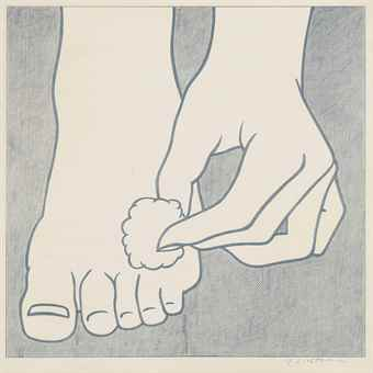 Roy Lichtenstein-Foot Medication Poster-1963