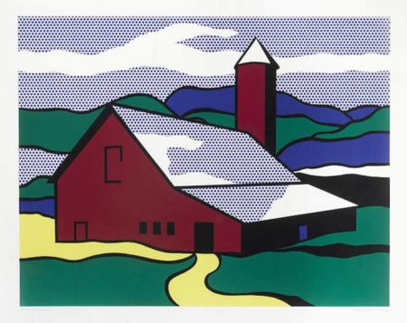 Roy Lichtenstein-After Roy Lichtenstein - Red Barn II-1969