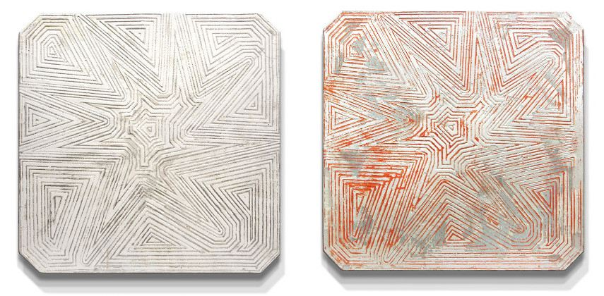 Alan Alldredge - Debitum IV, 2 of 5, 2015 (Left) ---- Debitum IV, 1 of 5, (Right)