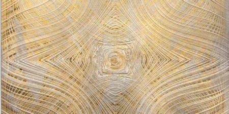 Alan Alldredge - Para Moiré I, 2014 dei manus gold view