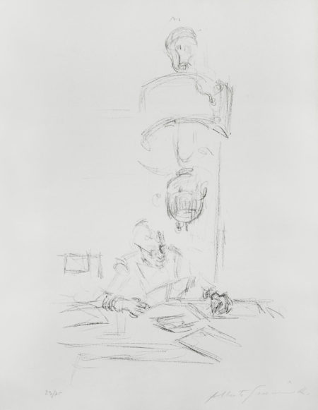 Alberto Giacometti-Artisit's Mother Reading II-1964