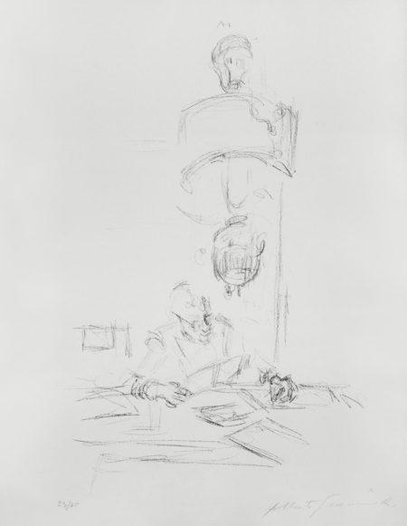 Alberto Giacometti-Artisit's Mother Reading II-1964