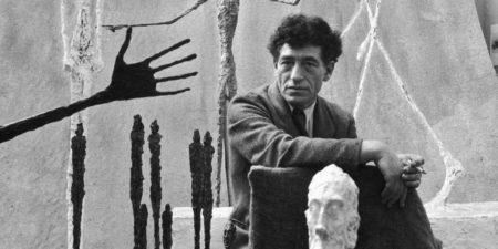 Alberto Giacometti - Photo of the artist in his studio - Image via dailyartfixx paris jean annette biography