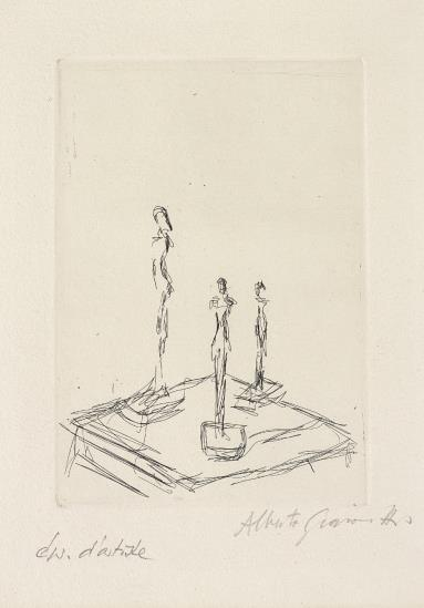 Alberto Giacometti-Trois figurines (Three Figurines)-1959