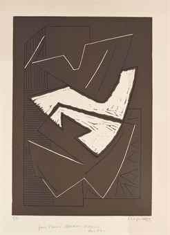 Alberto Magnelli-Plate IV, from: L'album de la Ferrage-1970