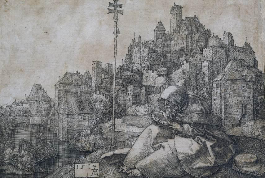 Albrecht Dürer - Saint Anthony - Image via wikiartorg