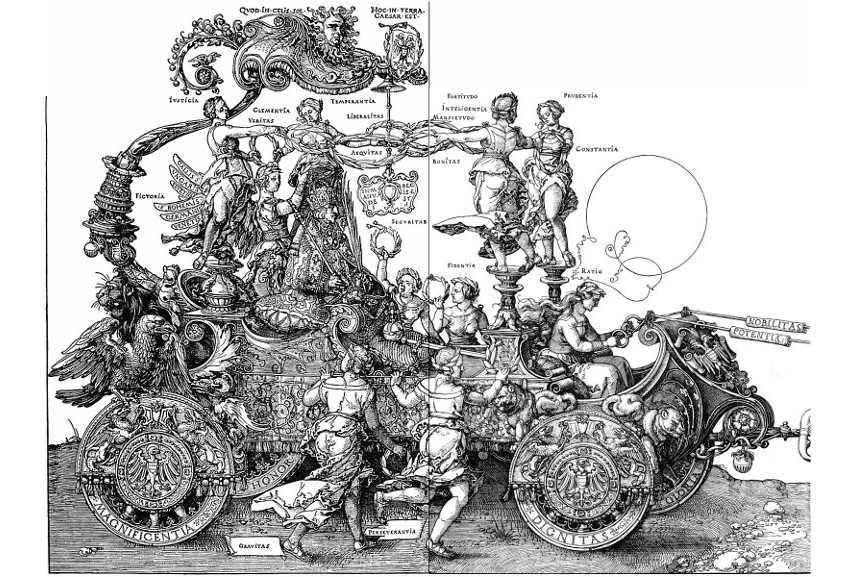 Albrecht Dürer - Triumphal Chariot - image via wikiartorg