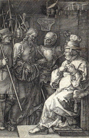 Albrecht Durer-Christ before Caiaphas; Christ Crowned with Thorns-1512