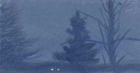 Alex Katz-Twilight Fog-2000