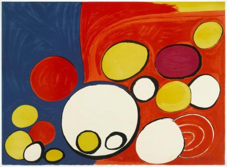 Alexander Calder-Circle with Eyes, from Our Unfinished Revolution Portfolio-1976