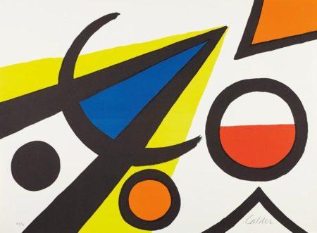 Alexander Calder-Grande A avec moustaches-1969