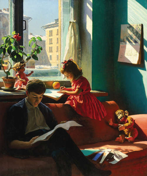 painting society stalin works artist russian realist social life arts view history russia socialist realism