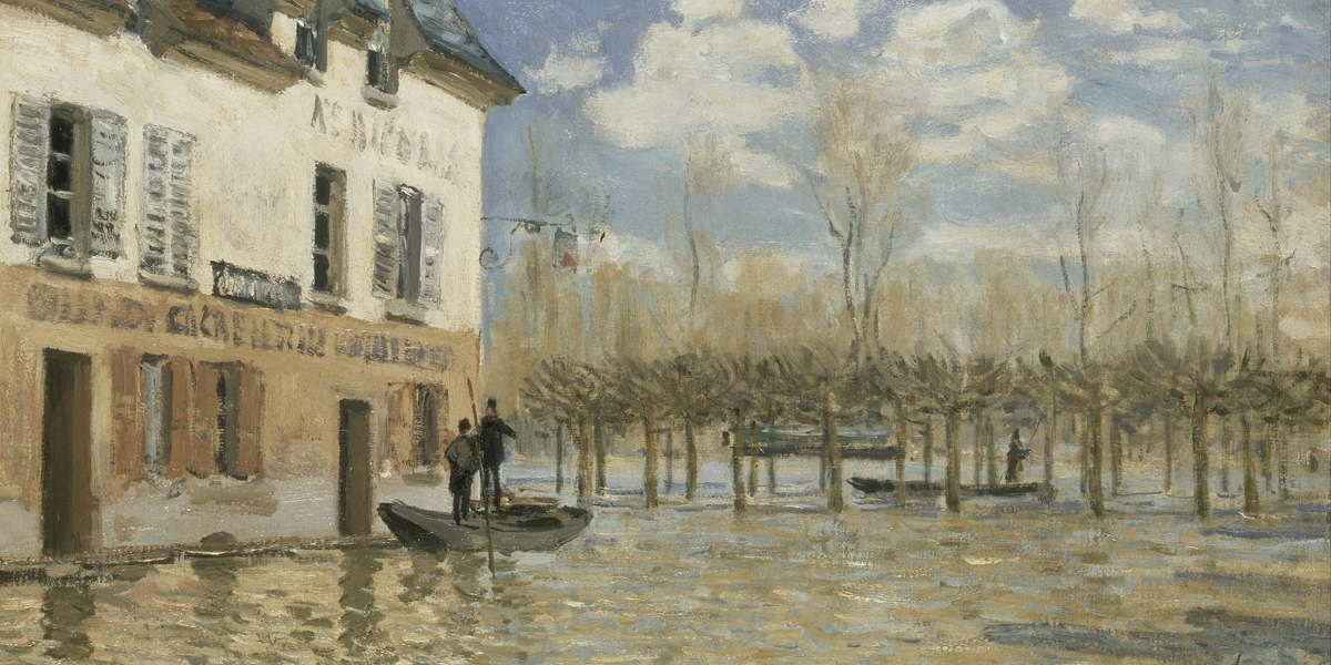 Alfred Sisley - Flood at Port-Marly, 1876 (detail)