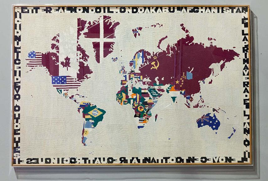 Alighiero Boetti - Mappa, 1983. Image via artribune.it