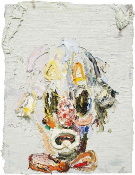 Allison Schulnik-Small Clown Head-2010