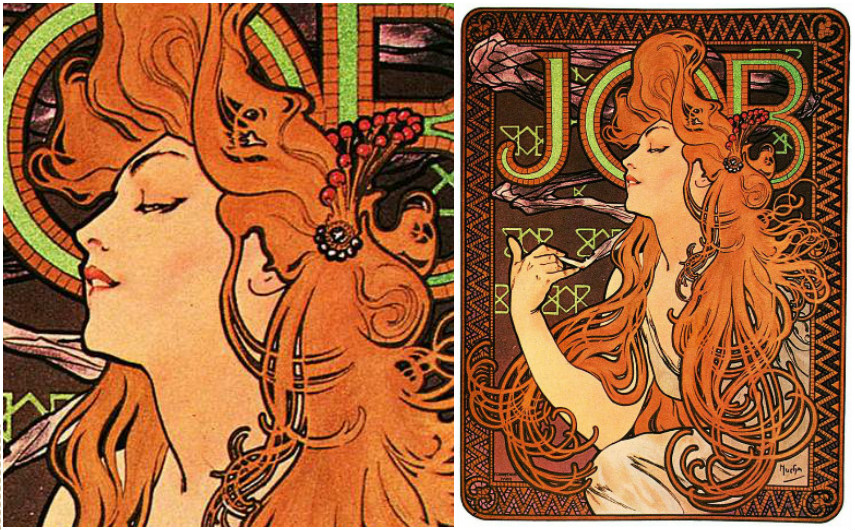 Alphonse Mucha - Job Cigarette papers, 1898