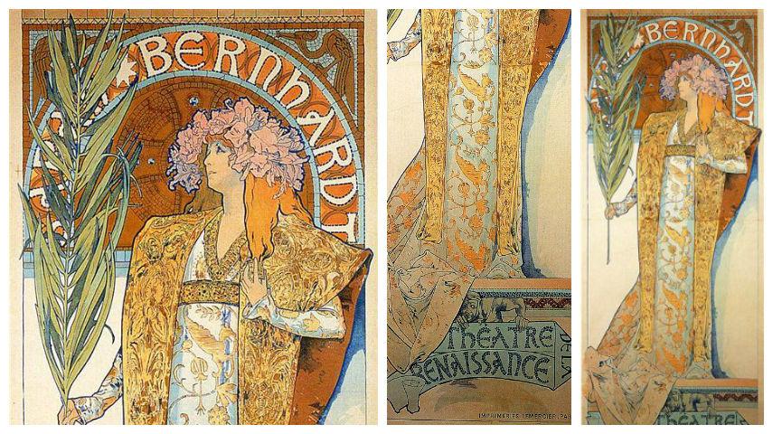 Alphonse Mucha - Sara Bernhardt as Gismonda - 1894 poster