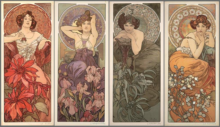 Alphonse Mucha - The Precious Stones series, 1900