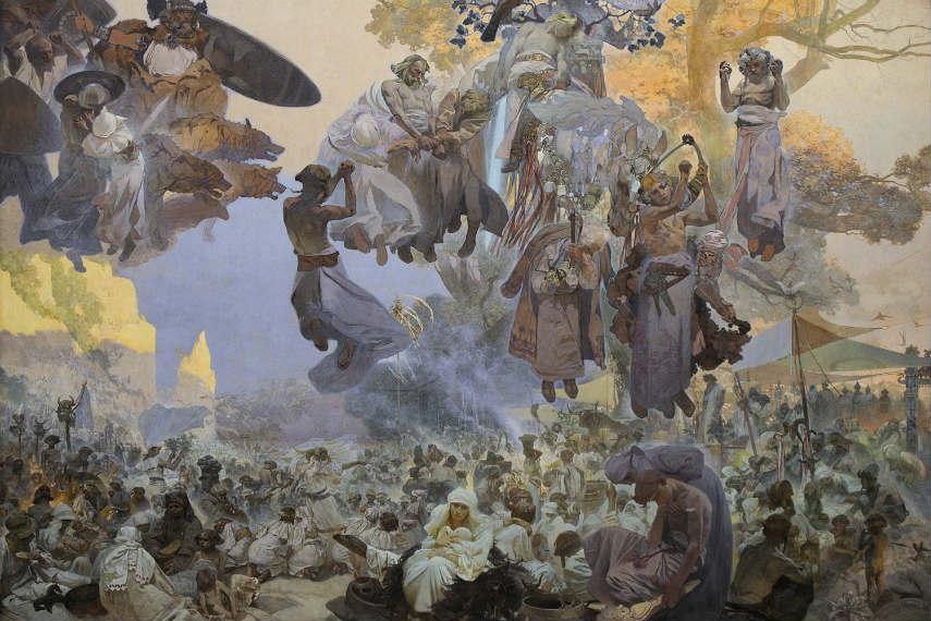 Alphonse Mucha - The Slav Epic, Slavnost svatovitova na rujane, Image via wikimediaorg