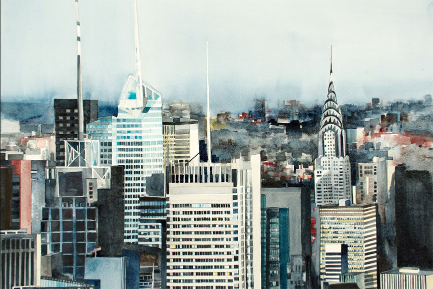 Amy Park - 1200' Bank of America, NY Times, and Chrysler Building , 2014