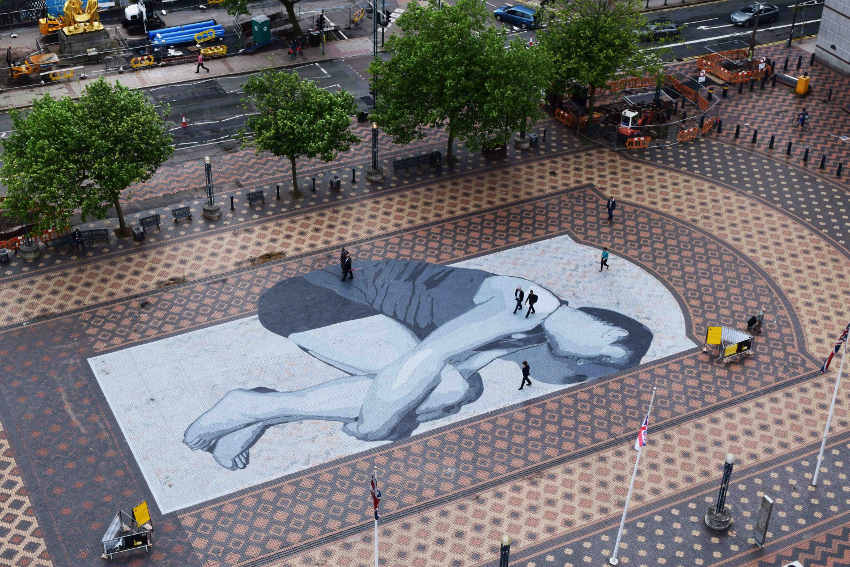 leviathan by an wei painted at centenary square in birmingham
