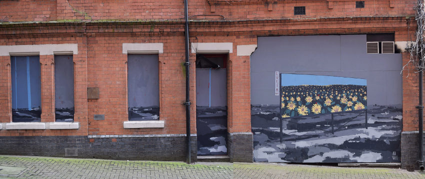 mural painting sunshine in birmingham by an wei