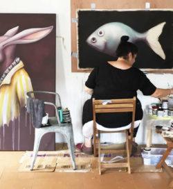 Ana Maria at her studio