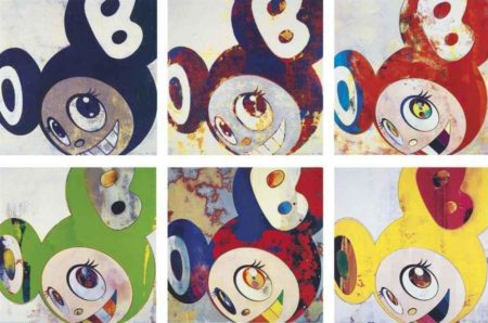 Takashi Murakami-And Then (Blue, Red and Blue DOB, Abstractes Bild, Kappa, Gargle Glop, Yellow Jelly)-2007