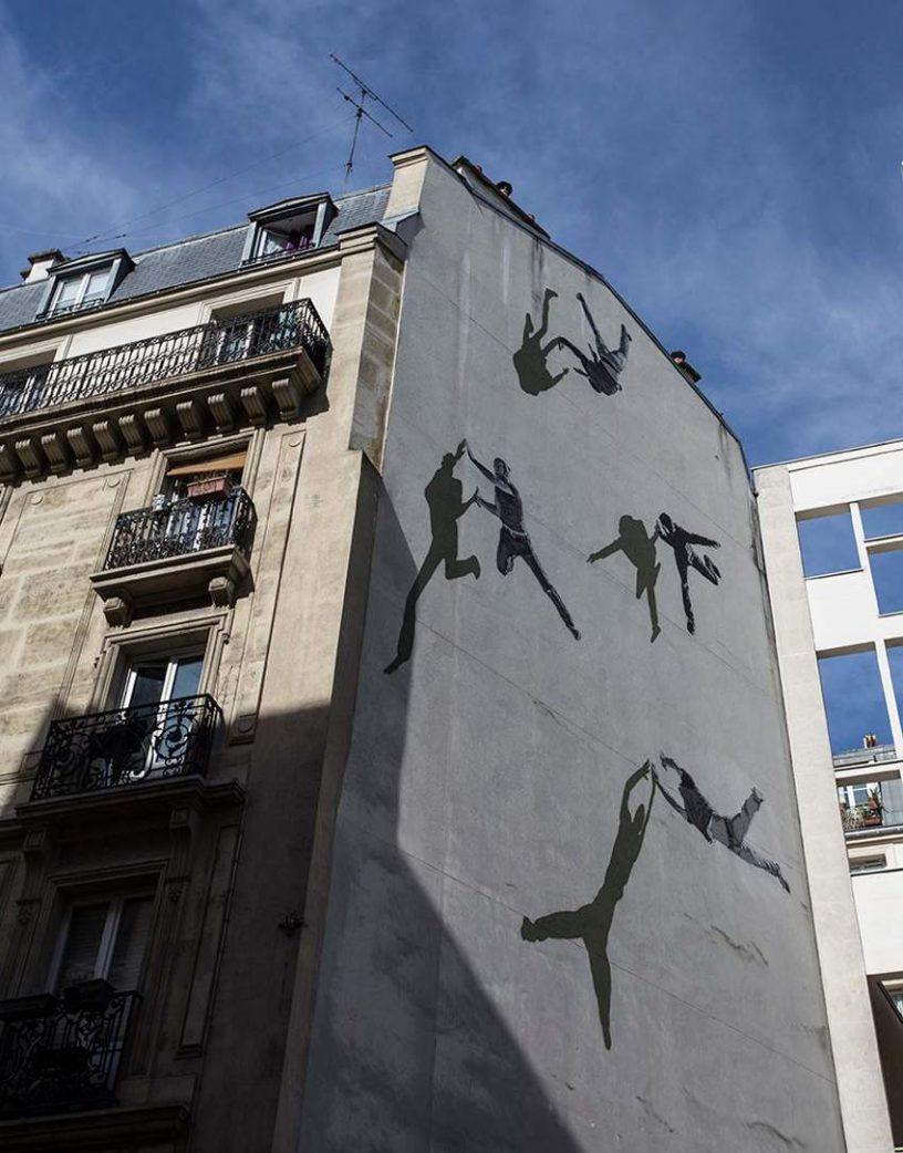 Anders Gjennestad Strok - mural on Rue De La Glaciere, Paris, France, 2016