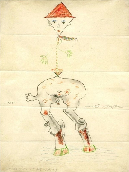 André Masson, Yves Tanguy, and others - Exquisite corpse, 1925. Image via onesurrealistaday.com