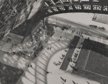 Andre Kertesz-Under the Eiffel Tower, Paris-1929