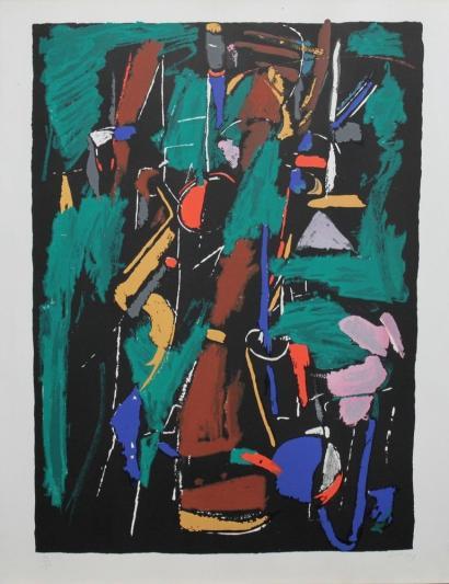 Andre Lanskoy-Composition sur fond noir-