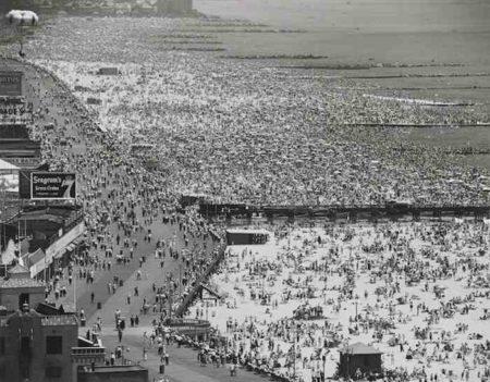 Andreas Feininger-Coney Island Beach, July 4-1949