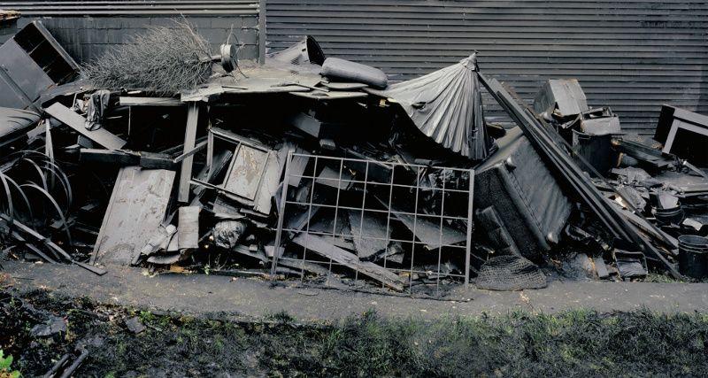 Andrew Dadson - Black Yard, 2007, photo courtesy of David Kordansky Gallery, photography of landscape painting