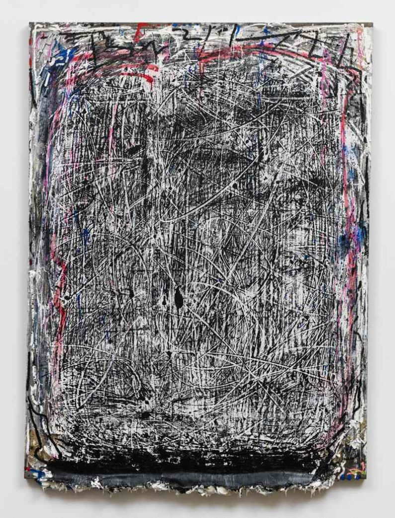 Andrew Dadson - Hot Wax, 2014, photo courtesy of David Kordansky Gallery, abstract art, monochrome painting