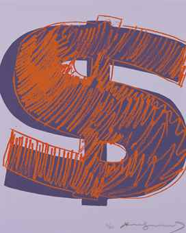 Andy Warhol-$(1): one plate-1982